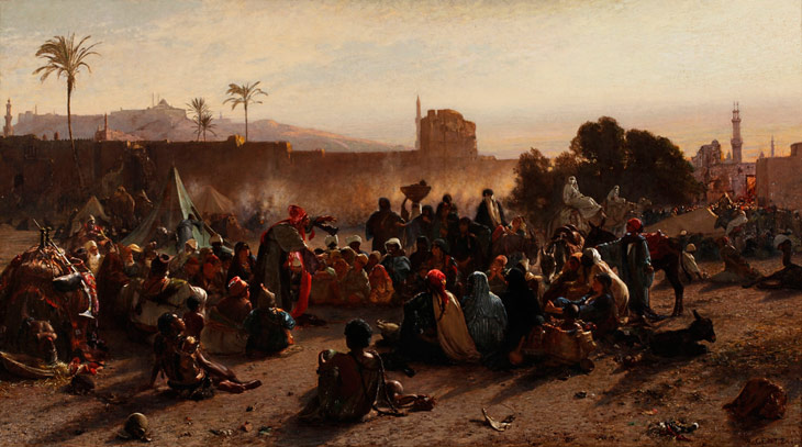 "Gentz Le Conteur's painting ""The Moroccan Storyteller"" 1870"